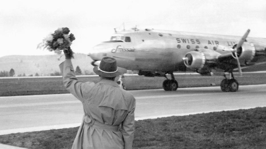 Ankunft WM Aspen 1950