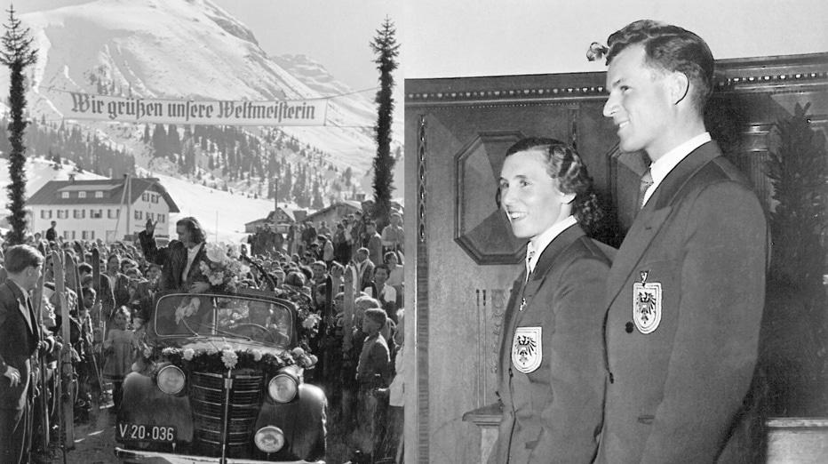 WM Empfang Lech 1950 mit Othmar Schneider