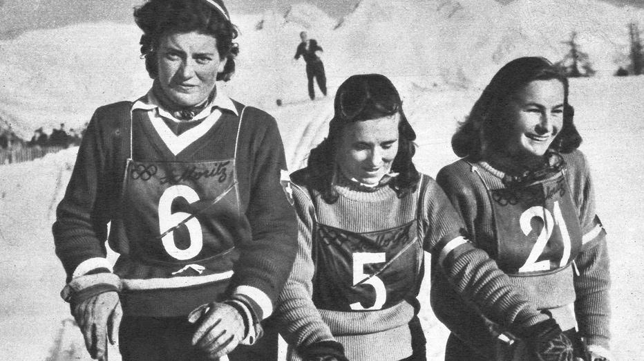 St. Moritz 1948 Trude Jochum-Beiser